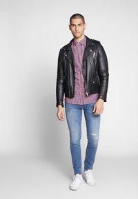Tommy Jeans - OVERDYE - Shirt - pink/twilight navy - 1