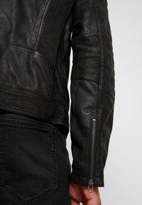 Goosecraft - JACKET - Kožená bunda - black - 4