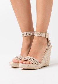 NA-KD - High heeled sandals - natural - 0