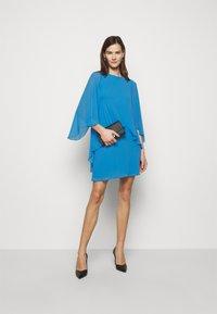 Lauren Ralph Lauren - CLASSIC DRESS - Koktejlové šaty/ šaty na párty - captain blue - 1