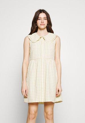 VIKEMILLA COLLAR SHORT DRESS - Shirt dress - sunshine