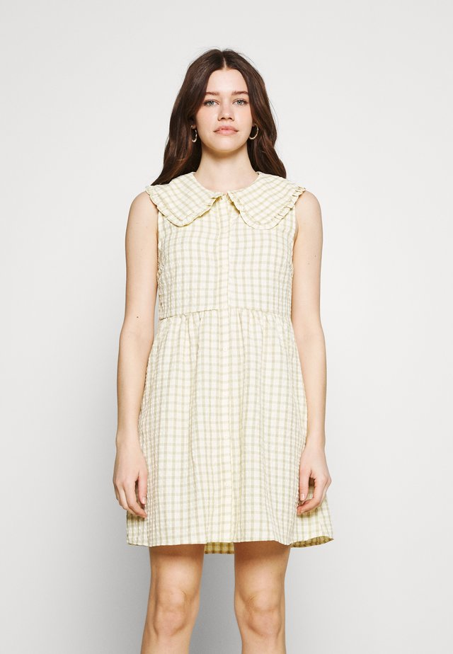 VIKEMILLA COLLAR SHORT DRESS - Shirt dress - sunshine