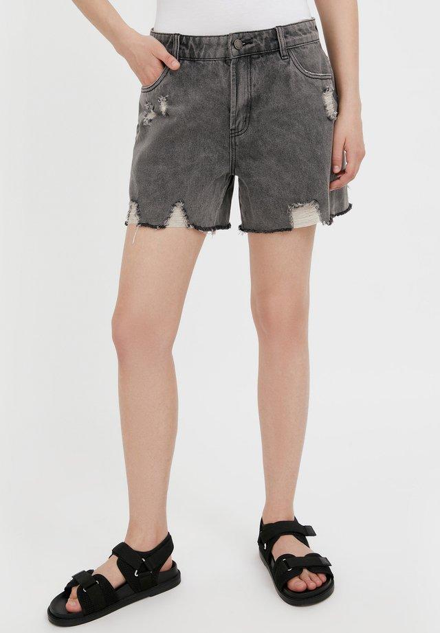 Short en jean - dark grey