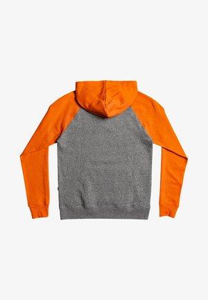 ESSENTIALS - Hoodie - dark grey/orange