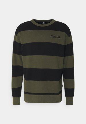 NOVELTY CREW UNISEX - Sweatshirt - khaki/black