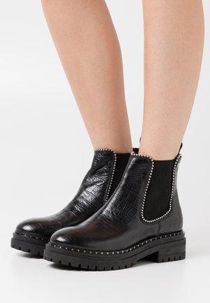 JOME CROCCO - Cowboy/biker ankle boot - black