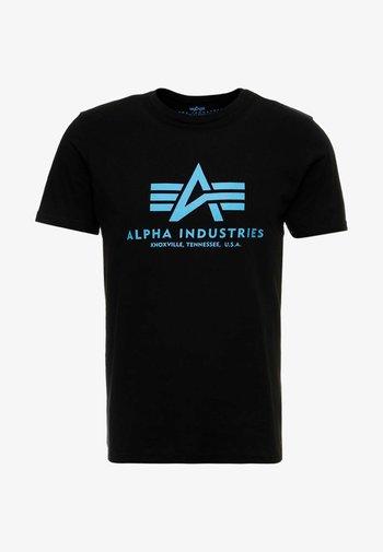 T-shirt med print - black/blue