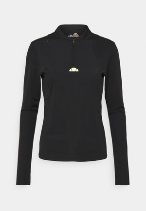 PULETTI 1/2 ZIP - Camiseta de manga larga - black