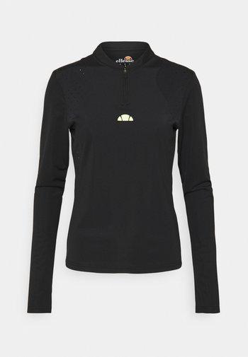 PULETTI 1/2 ZIP - Pitkähihainen paita - black