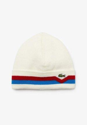 Bonnet - blanc / bleu / rouge