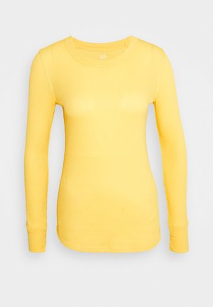 WAFFLE TEE - Long sleeved top - pale gold