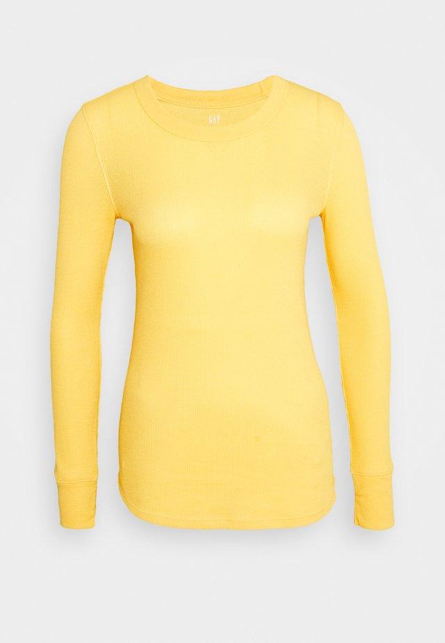 WAFFLE TEE - Maglietta a manica lunga - pale gold