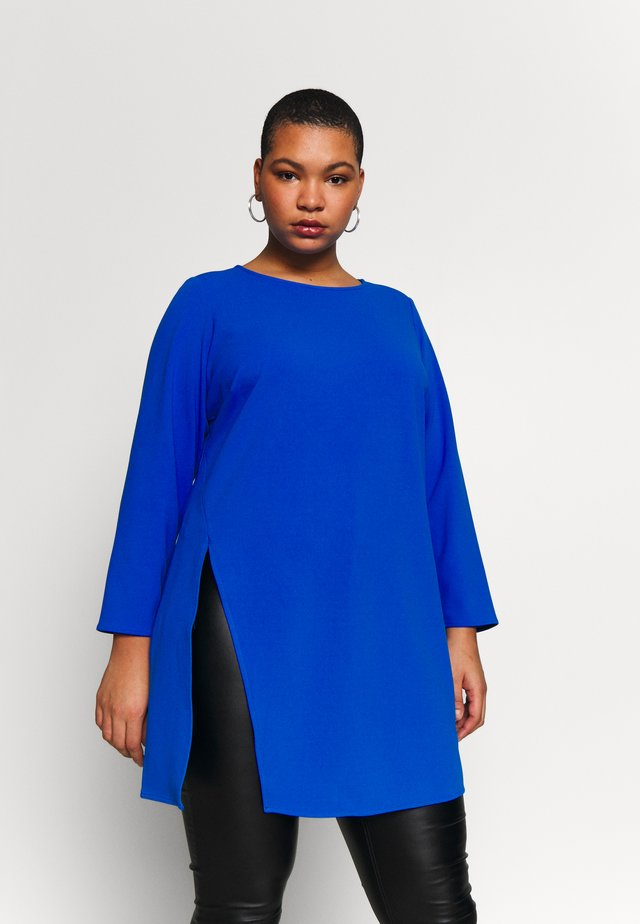 SIDE SLIT CREPE PONTE - T-shirt à manches longues - blue