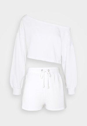 COLD SHOULDER & RUNNER - Sweatshirt - white