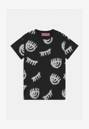 T-SHIRT KIDS SPRAY - Triko s potiskem - black