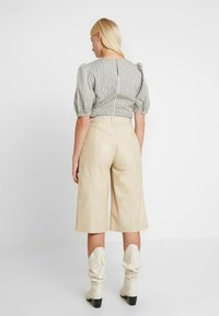 Gestuz - SURI - Leather trousers - safari - 2