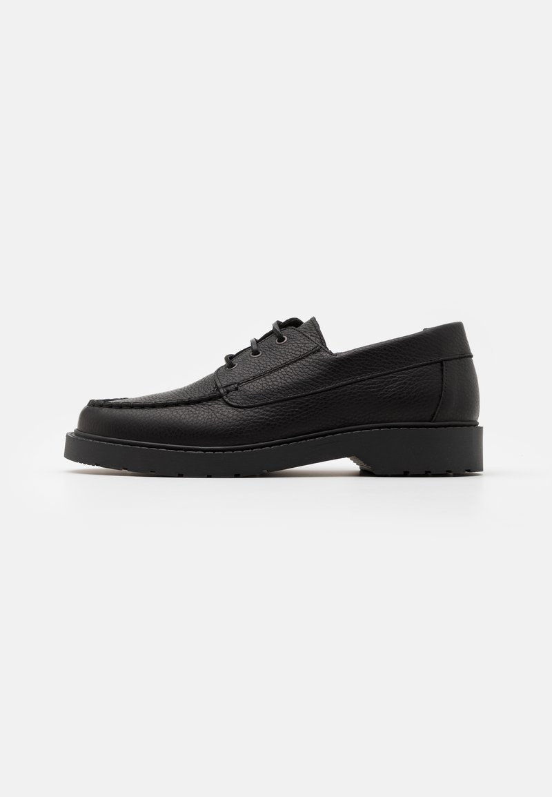 Selected Homme - SLHTIM BOAT SHOE CLEAN  - Šněrovací boty - black