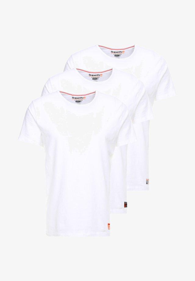 SLIM TEE 3 PACK - T-shirt basic - laundry white