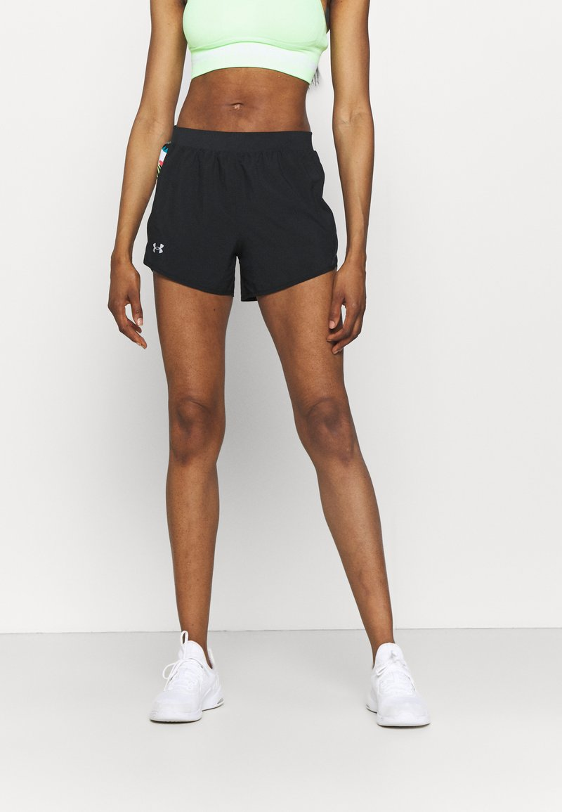 Under Armour - FLY BY 2.0 FLORAL SHORT - Sports shorts - black