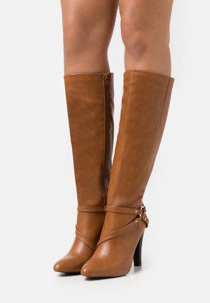 PARNESS - Boots - cognac
