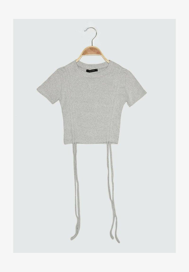 Trendyol - Print T-shirt - grey