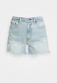Abercrombie & Fitch - CURVE LOVE HIGH RISE MOM - Denim shorts - dark - 4