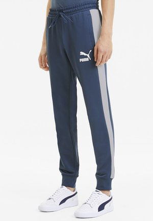 PUMA ICONIC T7 KNITTED MEN'S TRACK PANTS MALE - Träningsbyxor - dark denim