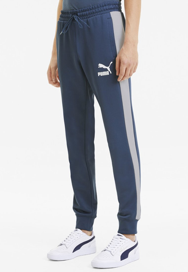 Puma - PUMA ICONIC T7 KNITTED MEN'S TRACK PANTS MALE - Tracksuit bottoms - dark denim