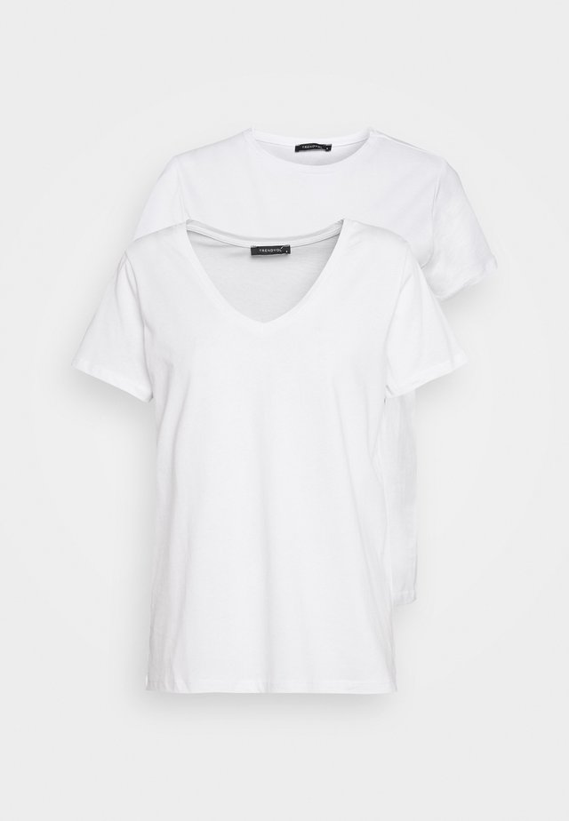 BEYAZ 2 PACK - T-Shirt basic - white