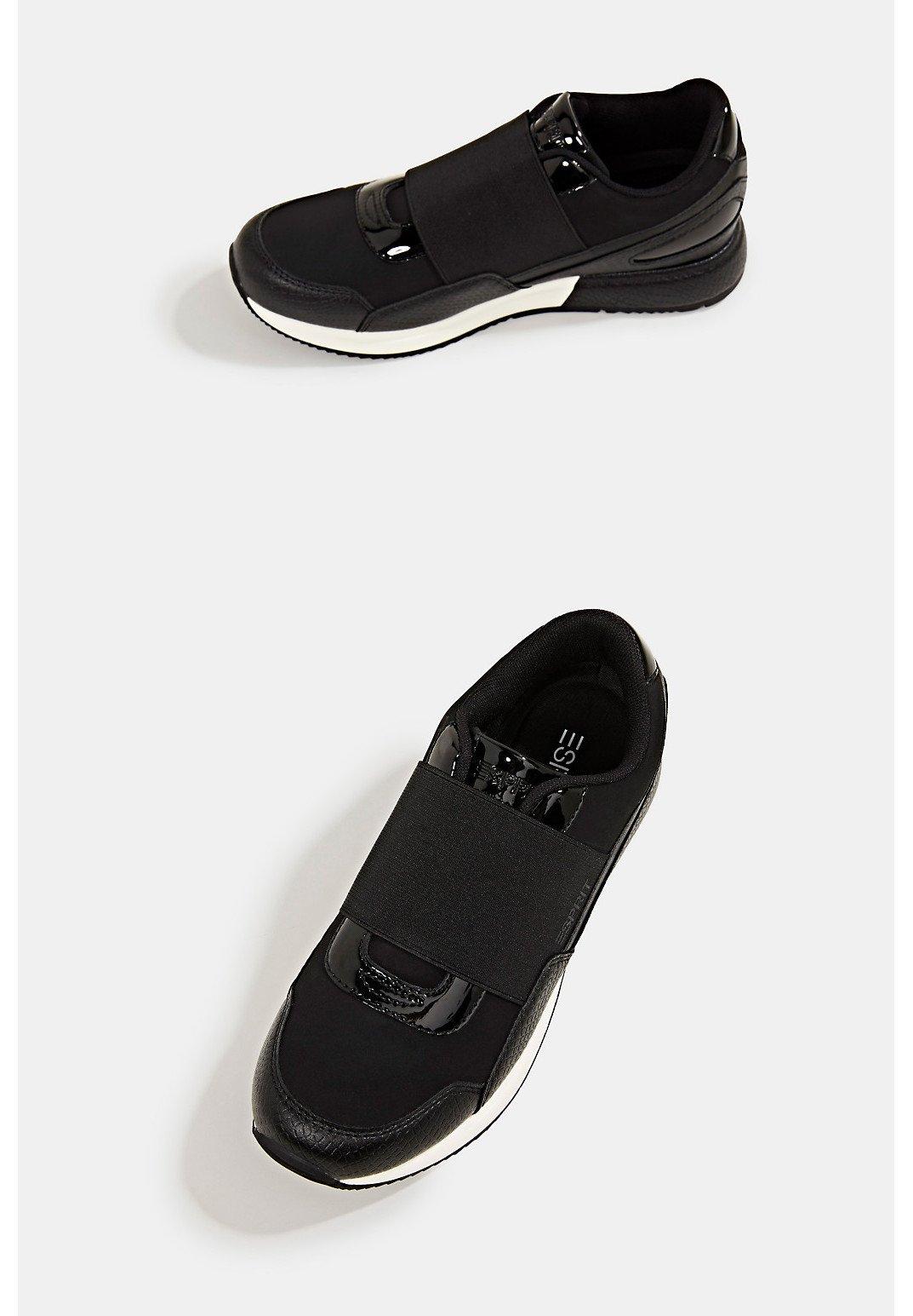 Esprit MIT LACKDETAILS Sneaker low black/schwarz
