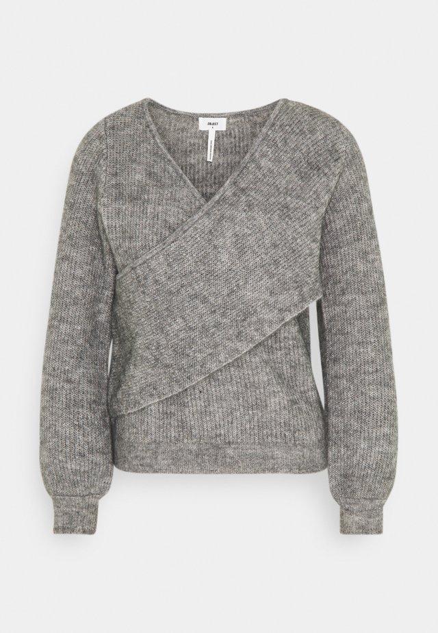 OBJHOLLY - Pullover - medium grey melange