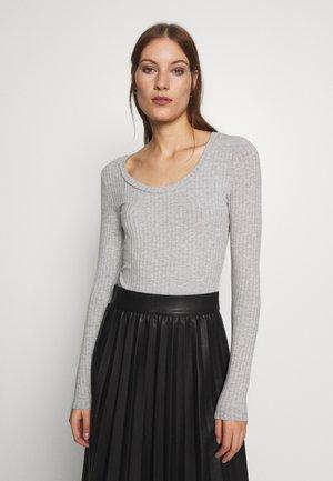 TINILLA - Long sleeved top - grey melange