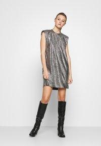Monki - ALVINA BLING DRESS - Robe de soirée - silver / black - 1