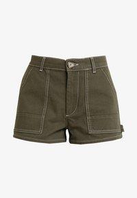 TWINTIP - Denim shorts - khaki - 4