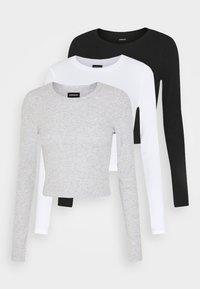 Even&Odd - 3 PACK - Long sleeved top - black/white/light grey - 5