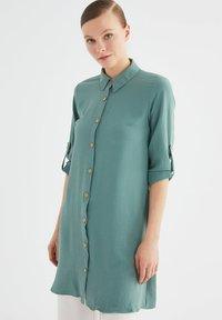 Trendyol - Button-down blouse - green - 3