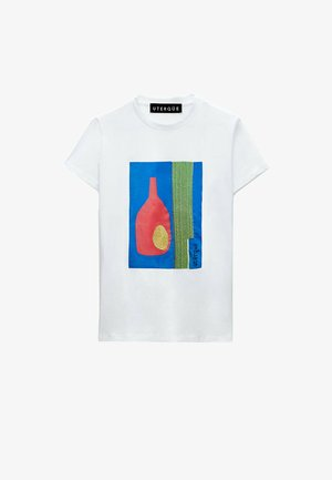 MIT KUNSTDRUCK - Print T-shirt - white