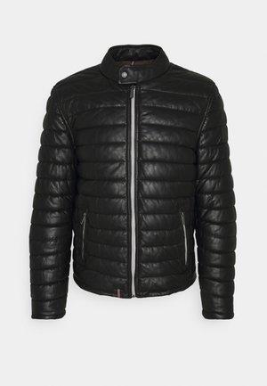 JULIEN - Leather jacket - black