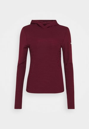 HOODIE RUNWAY - Sports shirt - dark beetroot