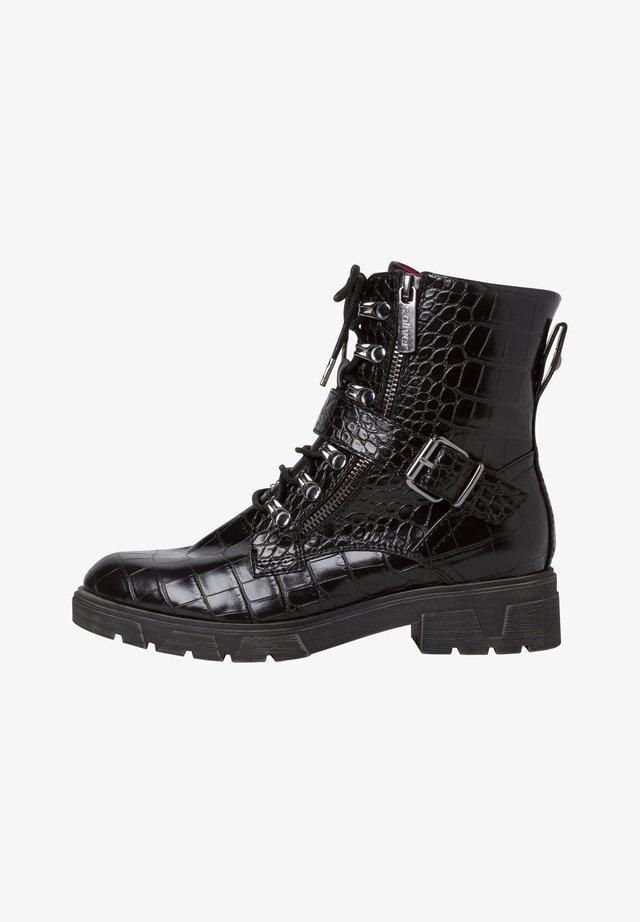 Cowboy-/Bikerlaarsjes - black croco