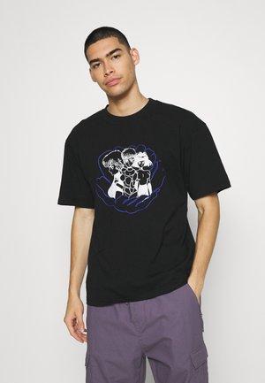 FLOWER GIRLS - Print T-shirt - black