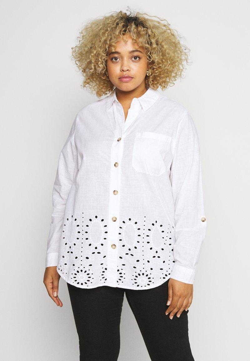 River Island Plus - Button-down blouse - white
