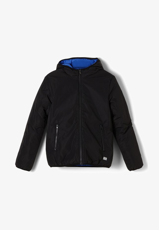 LANGARM - Winter jacket - black/blue