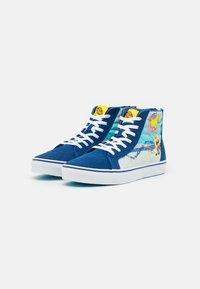 Vans - JN VANS X SPONGEBOB SK8-HI ZIP UNISEX - Höga sneakers - dark blue/multicolor - 1
