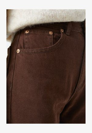Straight leg jeans - dark brown