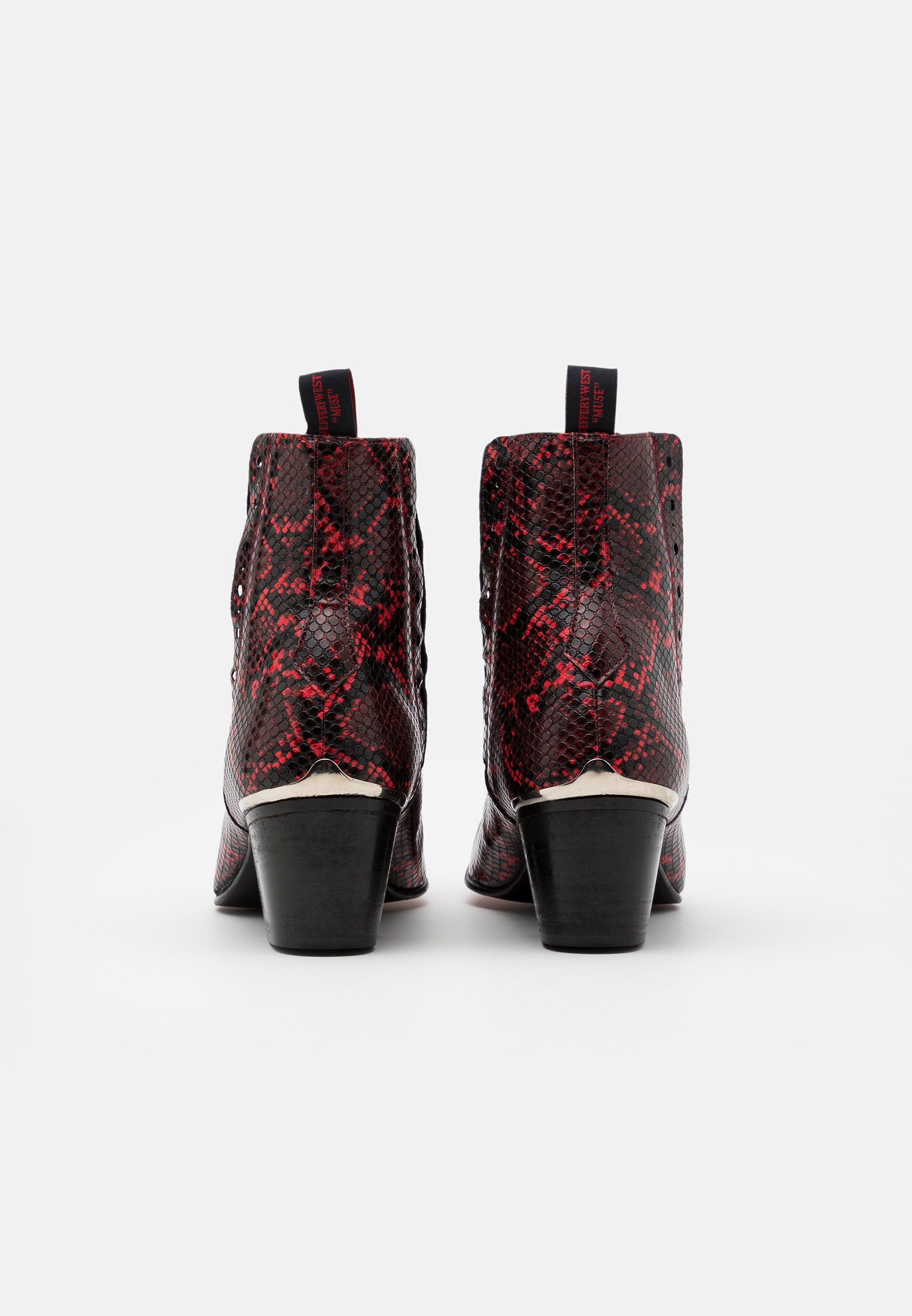 Up To Date Cheapest Jeffery West VEGAN MURPHY CHELSEA - Cowboy/biker ankle boot - red | women's shoes 2020 STm23