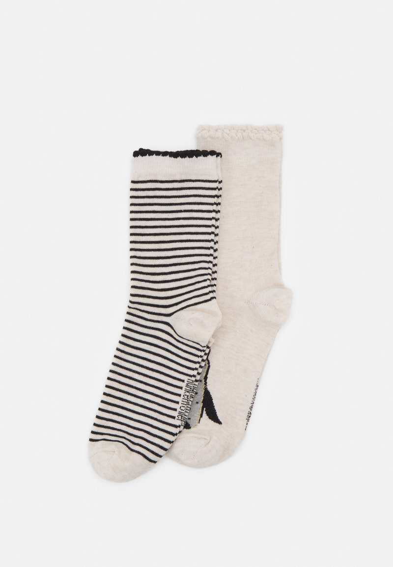 Hunkemöller - CHRISTMAS PENGUIN SOCKS 2 PACK - Socks - white