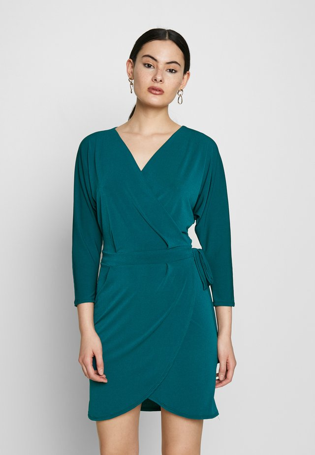 SLEEVE WRAP DRESS - Sukienka letnia - teal