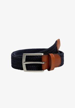 ELASTIC - Braided belt - bleu marine foncé