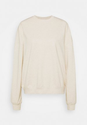Sweatshirt - mottled beige